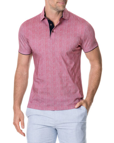 Men's Spence Crescent Printed Cotton Jersey Polo