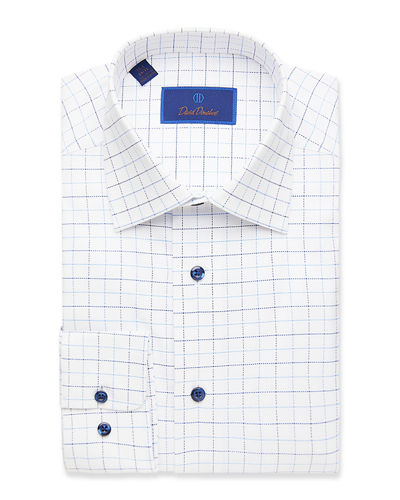 Men's Regular-Fit Cotton Dress Shirt