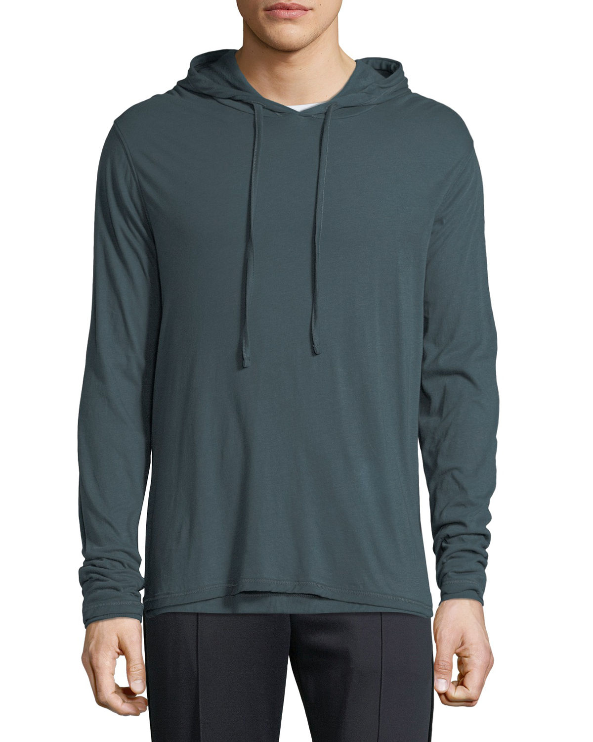 Vince 0 MEN'S DOUBLE-LAYER PULLOVER HOODIE