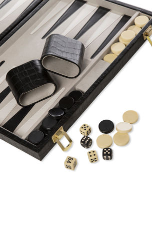 Brouk and Co Backgammon Game Set with Vegan Leather Case