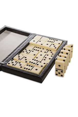 Brouk and Co Domino Game Set with Vegan Leather Case