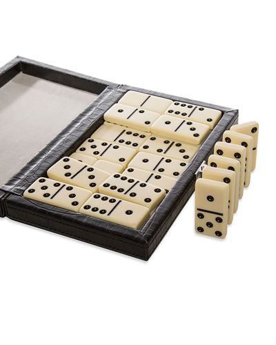 Domino Game Set with Vegan Leather Case