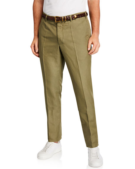 Image 1 of 3: Incotex Men's Linen-Blend Chino Pants
