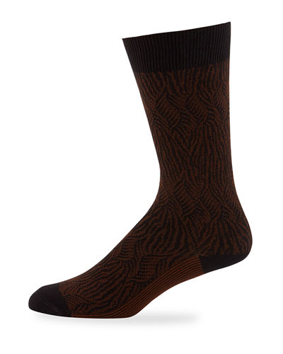Ace & Everett Men's Richards Jacquard Knit Socks