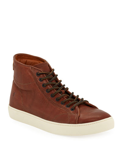 Men's Walker Leather Mid-Top Sneakers