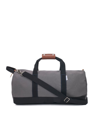 Boarding Pass NYC Men's Work Hard Play Hard Canvas Duffel Bag