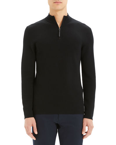 Men's Detroe Milos Quarter-Zip Wool Sweater