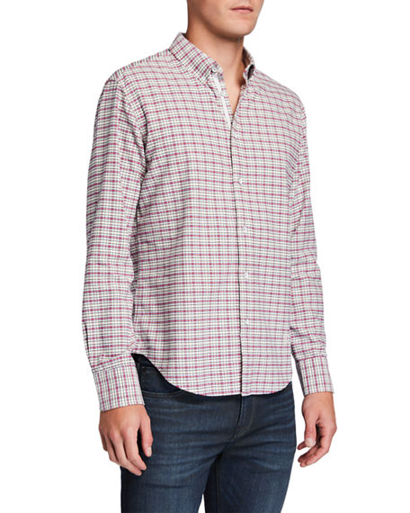 Rag & Bone Men's Tomlin Fit 2 Plaid Oxford Sport Shirt