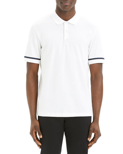 Men's Function Stretch-Cotton Pique Polo Shirt