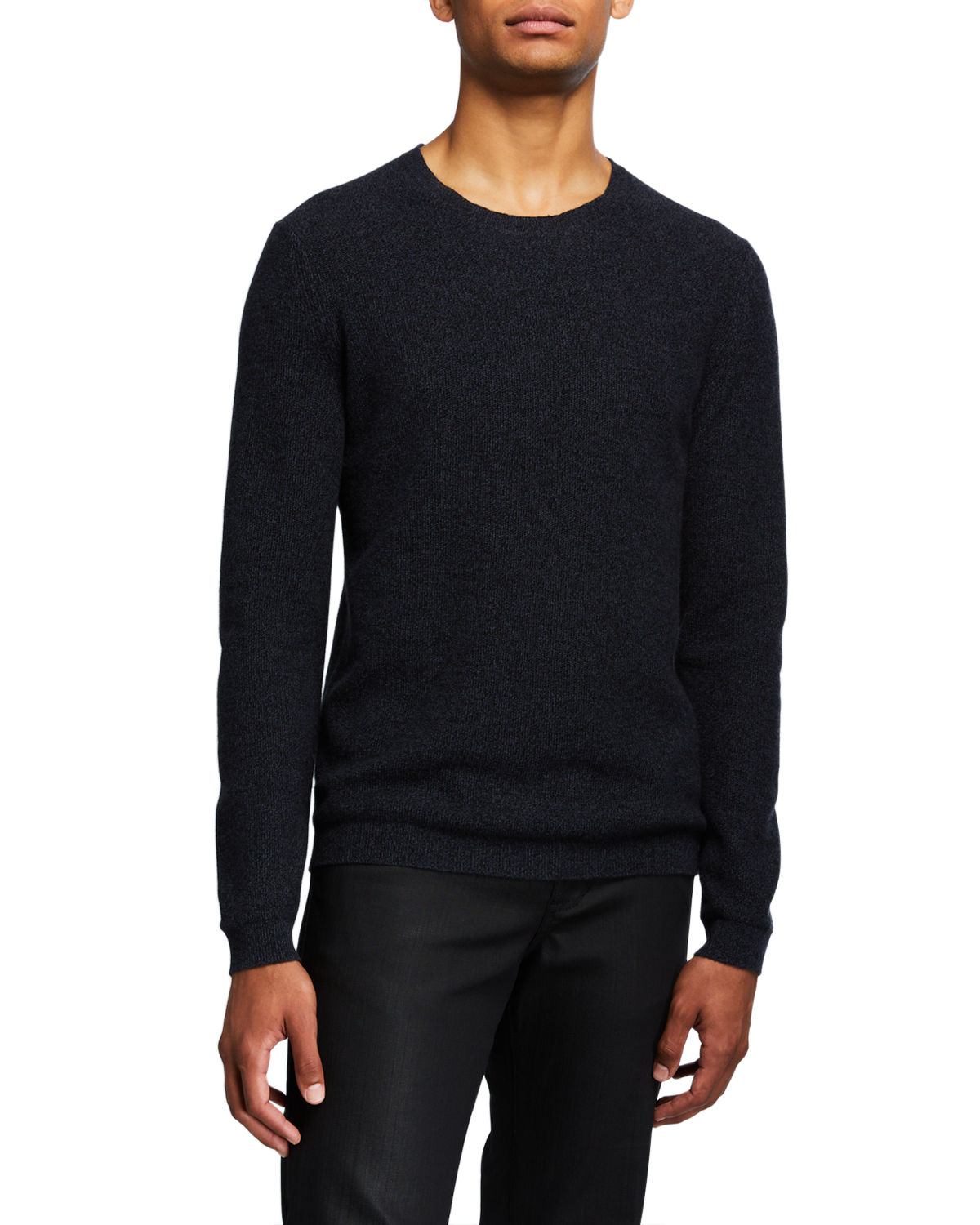Theory Sweaters MEN'S MEDIN SOLID CASHMERE CREWNECK SWEATER