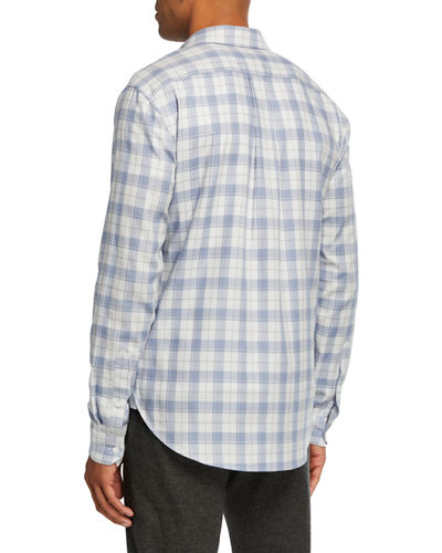 Vince Men's Multi-Plaid Sport Shirt
