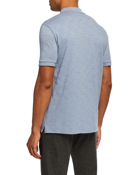 Image 2 of 2: Vince Men's Classic Jersey Polo Shirt