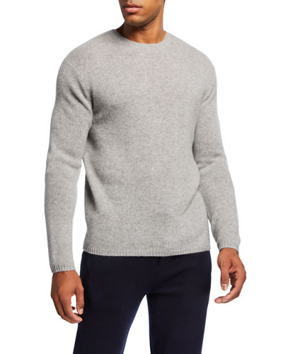 Men's Crewneck Long-Sleeve Lofty Cashmere Sweater