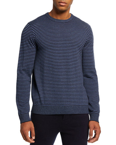 Vince Men's Striped Wool Crewneck Sweater