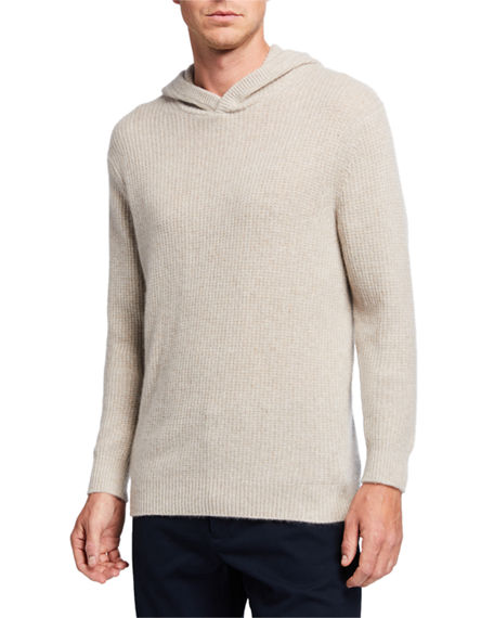 Image 1 of 2: Vince Men's Marled Cashmere Pullover Hoodie
