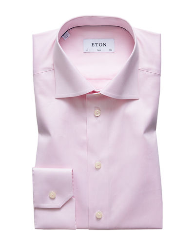 Men's Slim-Fit Twill Dress Shirt