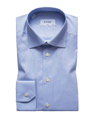 Men's Slim-Fit Natural-Stretch Dress Shirt