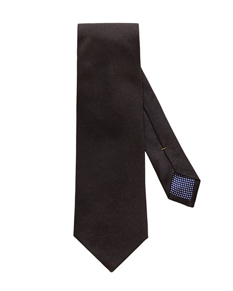 Image 1 of 3: Eton Men's Textured Solid Silk Tie