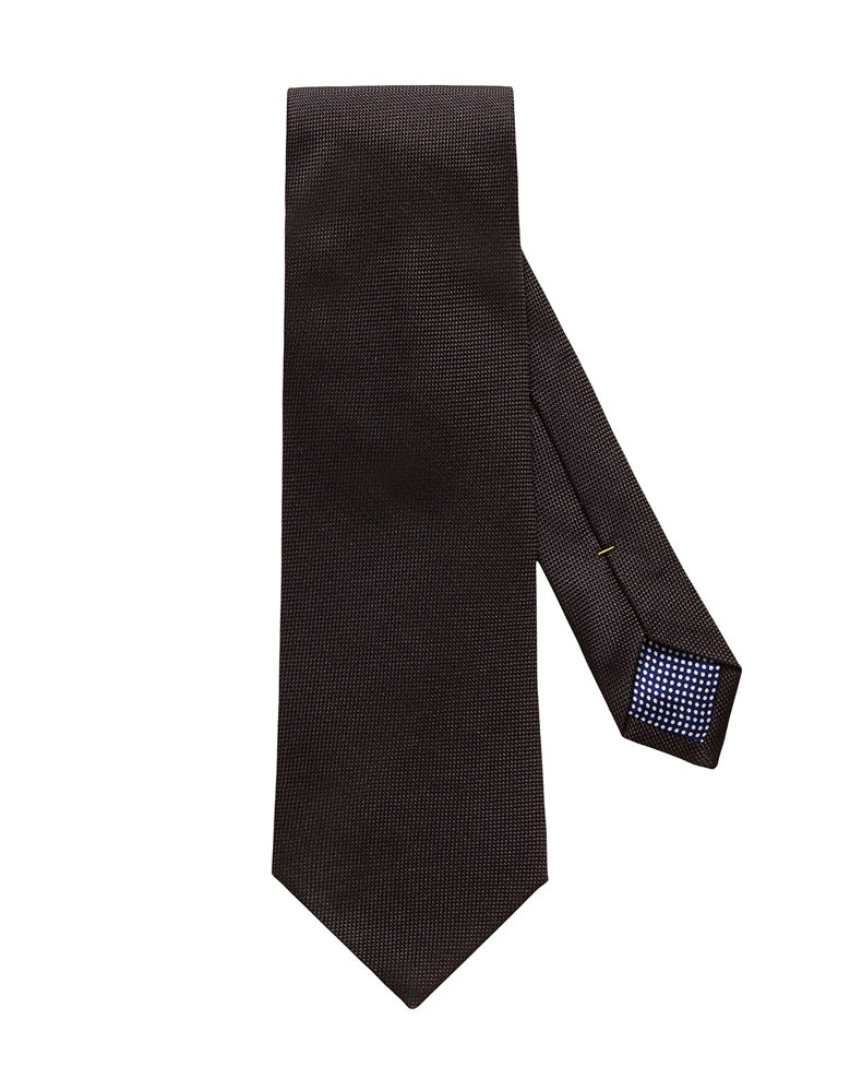 Eton Men's Textured Solid Silk Tie