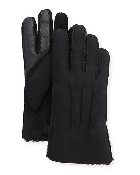 UGG Men's Three-Cord Contrast Sheepskin Gloves