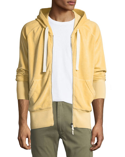 TOM FORD Terry Cloth Zip-Front Hoodie