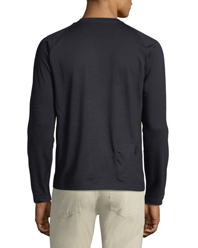 Z Zegna Men's Techmerino Jersey Long-Sleeve T-Shirt