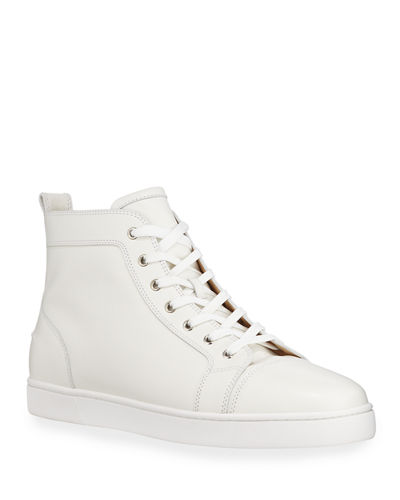 Men's Louis Leather High-Top Sneakers