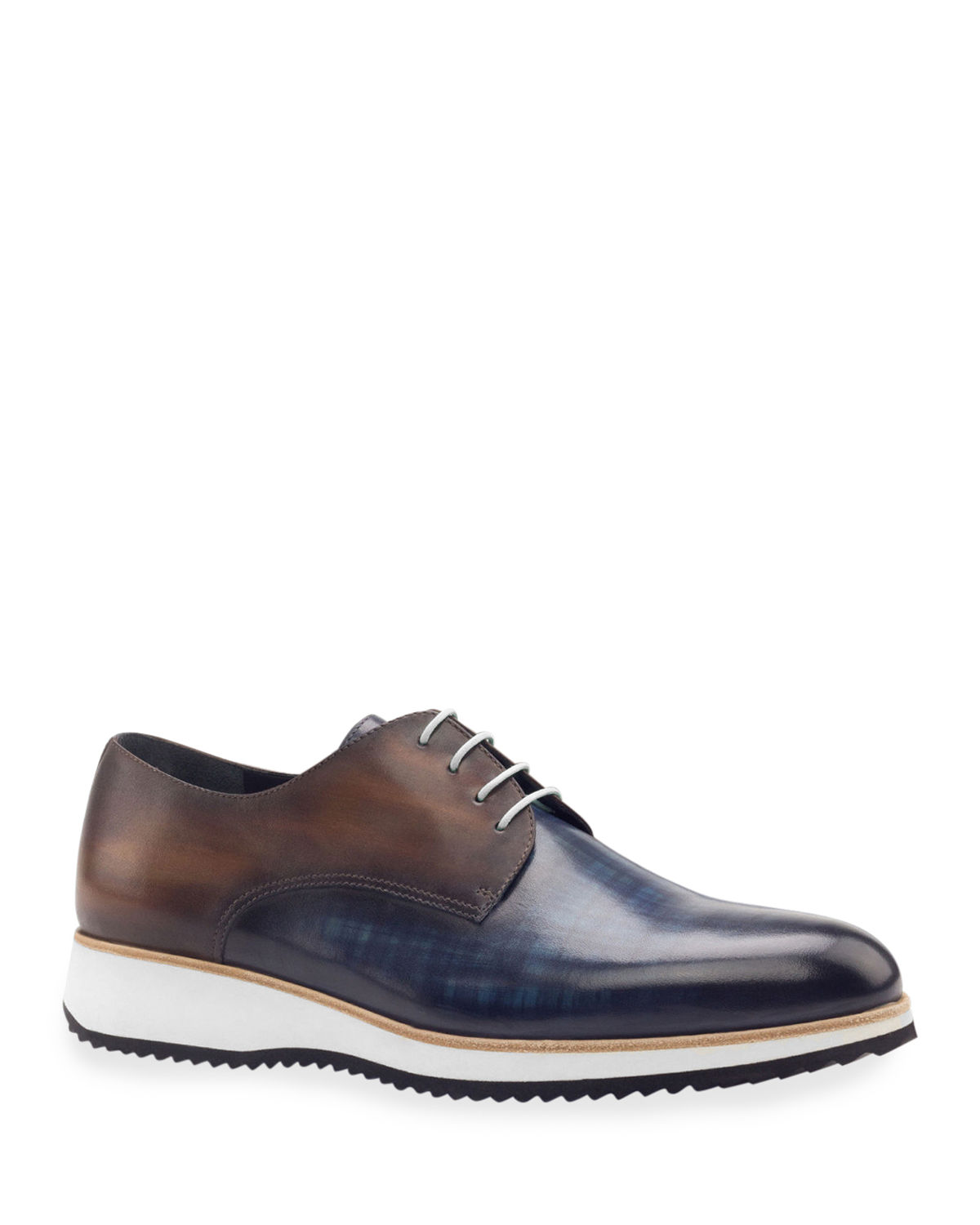 Men's Modus Two-Tone Patina Leather Derby Sneakers