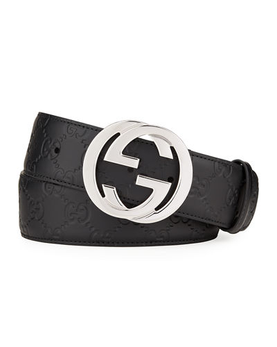 d377a69db Quick Look. Gucci · Interlocking G-Buckle Leather Belt