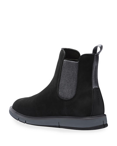Swims Men's Motion Water-Resistant Suede Chelsea Boots