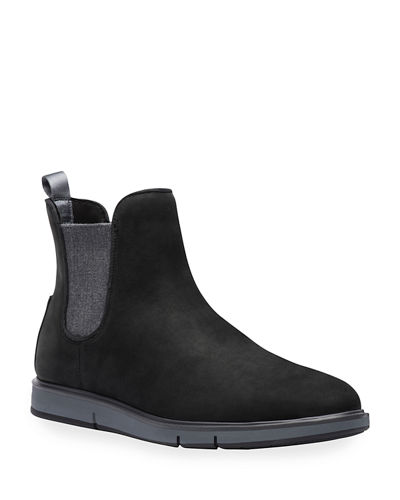 Men's Motion Water-Resistant Suede Chelsea Boots