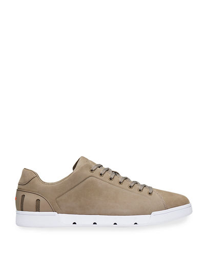 Swims Men's Breeze Leather Low-Top Sneakers