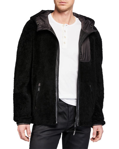 Men's Colorblock Fleece Zip-Front Jacket