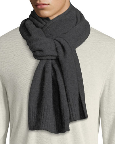 Men's Solid Cashmere Scarf