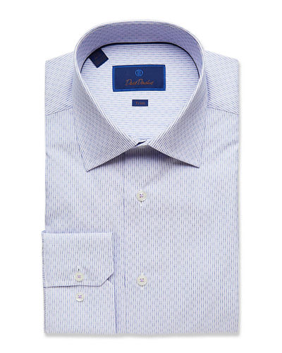 Men's Trim-Fit Micro-Check Dress Shirt