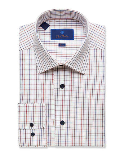 Men's Trim-Fit Check Dress Shirt