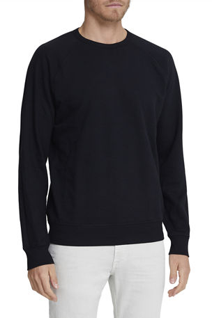 AG Adriano Goldschmied Men's Siris Solid Cotton Crewneck Sweatshirt