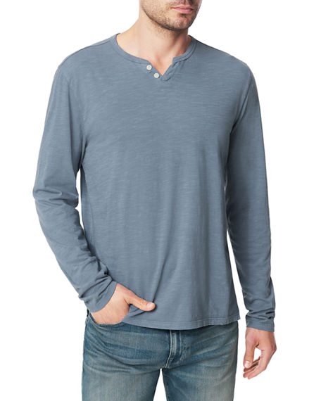 Image 1 of 3: Joe's Jeans Men's Slub Henley T-Shirt