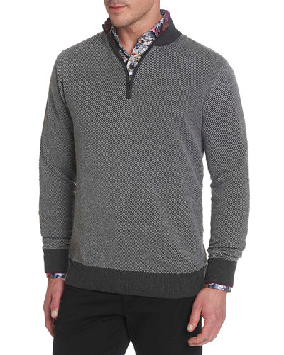 Robert Graham Men's Rhett Quarter-Zip Sweater