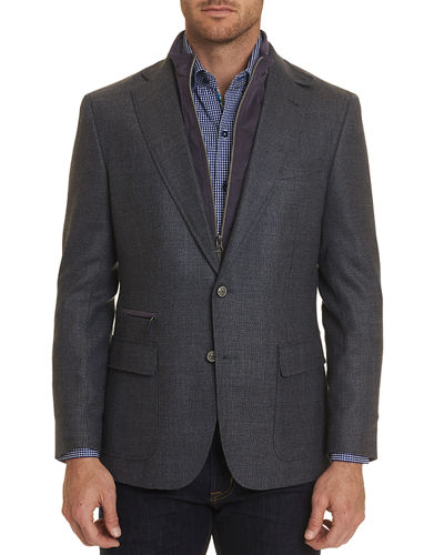 Men's Downhill Two-Button Wool Jacket