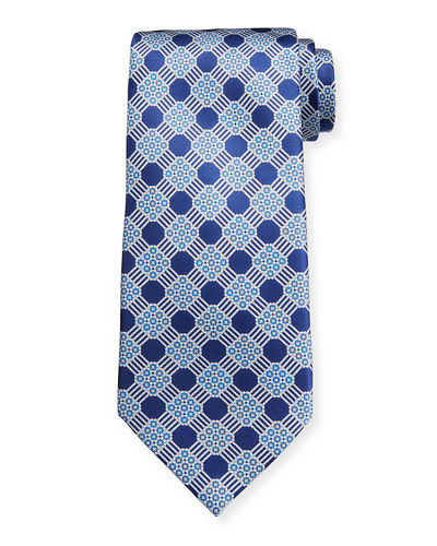Men's Large-Print Luxe Silk Tie