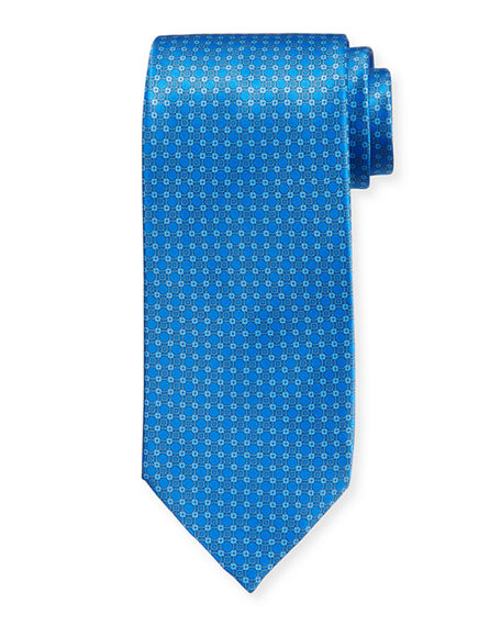 Stefano Ricci Medium-Circle Medallion Silk Tie