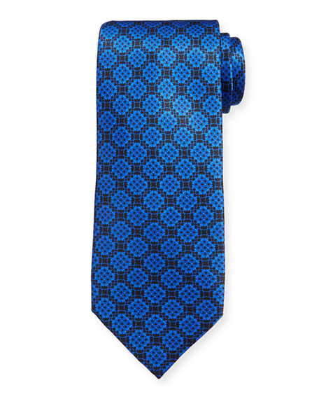 Stefano Ricci Men's Large Medallion Luxe Silk Tie