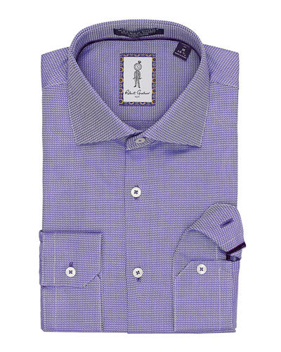 Men's Roscoe Mini-Print Dress Shirt