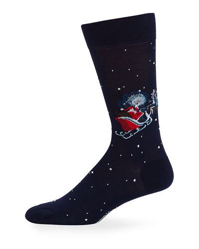 Marcoliani Men's Christmas Cotton Socks