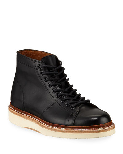 Men's Bryant Leather Combat Boots