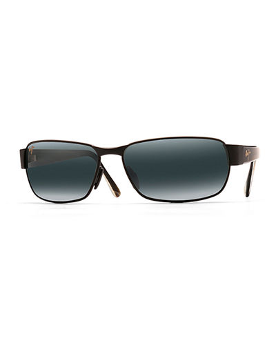 Men's Black Coral Polarized Metal Sunglasses
