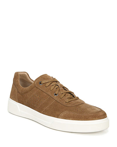 Men's Barnett Perforated Suede Low-Top Sneakers