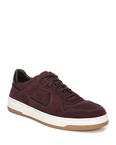 Men's Mayer-2 Suede Sneakers with Contrast Piping
