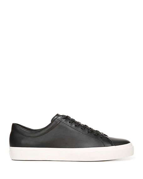 Image 2 of 4: Vince Men's Farrell Smooth Leather Low-Top Sneakers